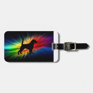 虹burst.pngのビーグル犬のシルエット ラゲッジタグ