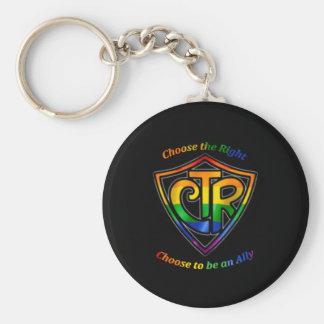 虹CTR - LDS LGBTの同盟国 キーホルダー