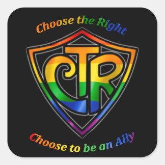 虹CTR - LDS LGBTの同盟国 スクエアシール