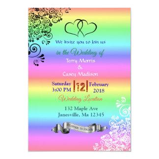 虹LGBTの結婚式招待状 カード