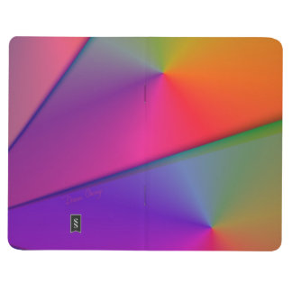 虹Origamiの抽象的なインディゴのマゼンタの渦巻 ポケットジャーナル