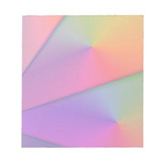 虹Origami -インディゴ及びマゼンタの渦巻 ノートパッド