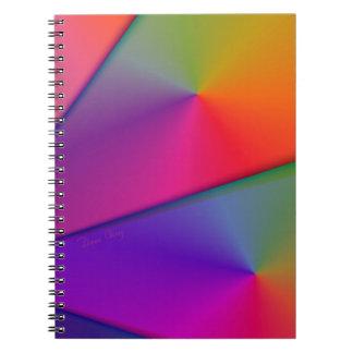 虹Origami -インディゴ及びマゼンタの渦巻 ノートブック
