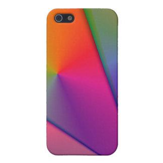 虹Origami -インディゴ及びマゼンタの渦巻 iPhone SE/5/5sケース