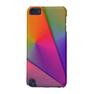 虹Origami -インディゴ及びマゼンタの渦巻 iPod Touch 5G ケース