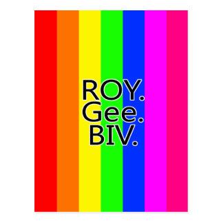 虹RoyGeeBiv - LGBT ポストカード