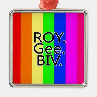 虹RoyGeeBiv - LGBT メタルオーナメント