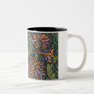 蛇紋岩によっては2つの調子のマグが開花します ツートーンマグカップ