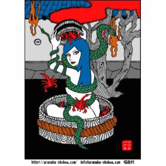 蛇蠍 写真彫刻(台付き)