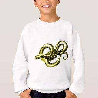 蛇(金ゴールド)の神話的な創造物のヴィンテージのプリント スウェットシャツ