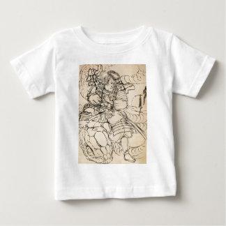 蛇c. 1800'sを敗北させている武士 ベビーTシャツ