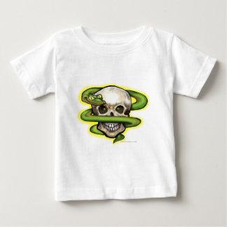 蛇nのスカル ベビーTシャツ