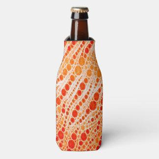 蛍光オレンジシマウマの抽象芸術 ボトルクーラー