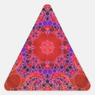 蛍光オレンジユニークで抽象的なパターン 三角形シール