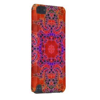 蛍光オレンジユニークで抽象的なパターン iPod TOUCH 5G ケース