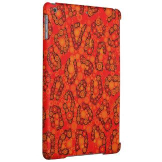 蛍光オレンジ赤のチータの抽象芸術
