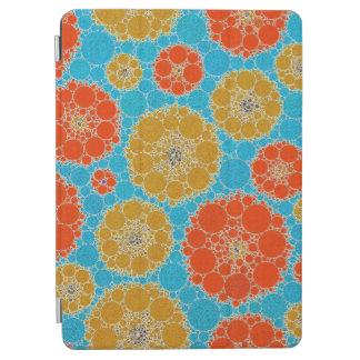蛍光ターコイズのオレンジの抽象芸術の花 iPad AIR カバー