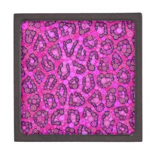 蛍光ピンクのチータパターン ギフトボックス