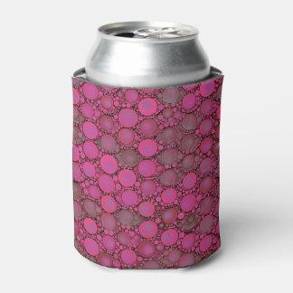 蛍光ピンクの泡パターン 缶クーラー