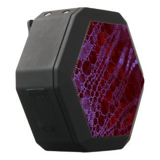 蛍光ピンクの赤くきらきら光るなシマウマの抽象芸術 ブラックBluetoothスピーカー