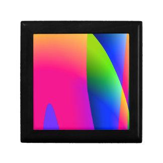 蛍光ピンクの青の抽象芸術パターン ギフトボックス