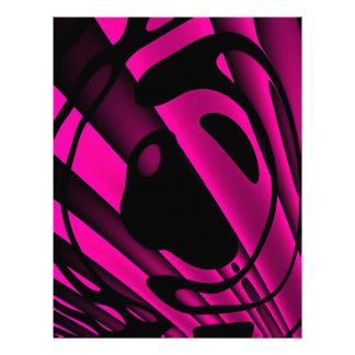 蛍光ピンクの黒の抽象芸術 レターヘッド