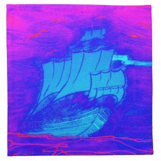 蛍光ヨット1 ナプキンクロス