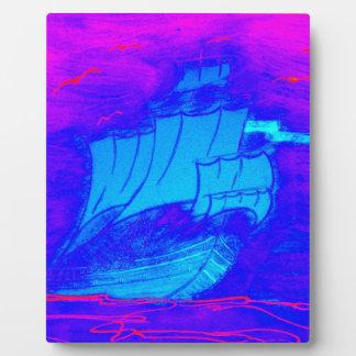 蛍光ヨット1 フォトプラーク