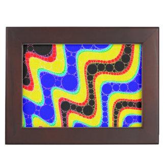 蛍光レトロの抽象芸術パターン ジュエリーボックス