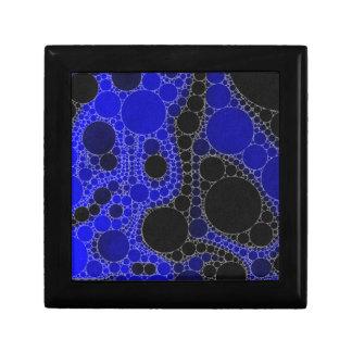 蛍光暗藍色の抽象芸術 ギフトボックス