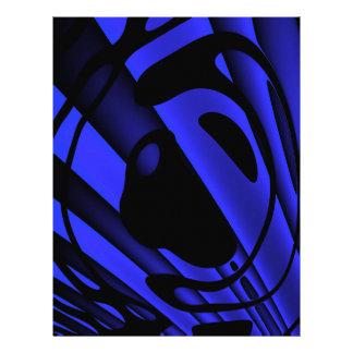 蛍光暗藍色の抽象芸術 レターヘッド