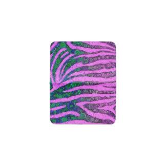 蛍光紫色の緑のシマウマの抽象芸術 名刺入れ