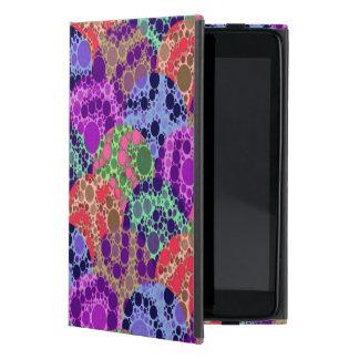 蛍光紫色の青いチータの抽象芸術 iPad MINI ケース