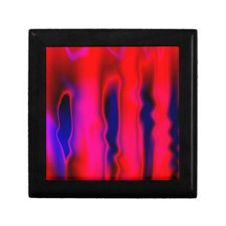 蛍光赤い青の抽象芸術 ギフトボックス