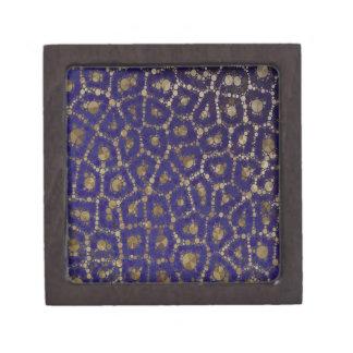 蛍光青い金ゴールドのチータの抽象芸術 ギフトボックス