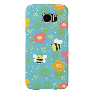 蜂および花のSamsungの銀河系S6の電話箱 Samsung Galaxy S6 ケース
