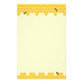 蜂および蜜蜂の巣の文房具 便箋