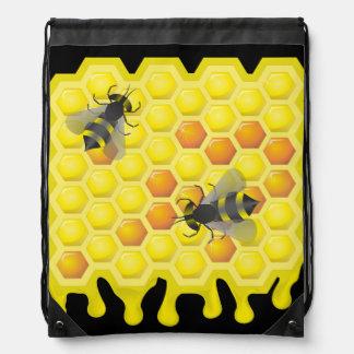 蜂および蜜蜂の巣 ナップサック