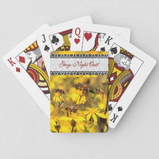 蜂および黄色い花 トランプ