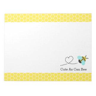 蜂できるようにかわいい、蜜蜂の巣パターン ノートパッド