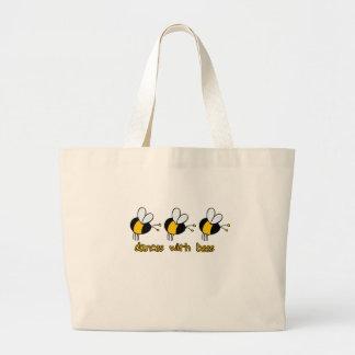 蜂とのダンス ラージトートバッグ