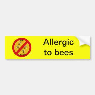 蜂にアレルギー バンパーステッカー