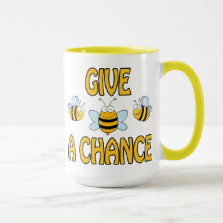 蜂にチャンスを与えて下さい マグカップ