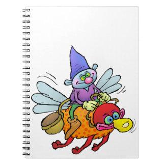 蜂に乗る格言の漫画の絵 ノートブック