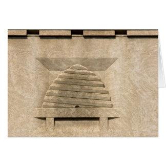 蜂のはちの巣のレリーフ、浮き彫り カード
