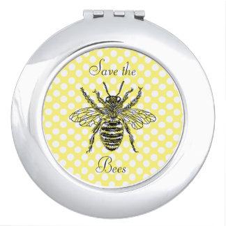 蜂のコンパクトの鏡を救って下さい