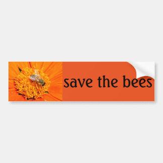 蜂のバンパーステッカーを救って下さい バンパーステッカー