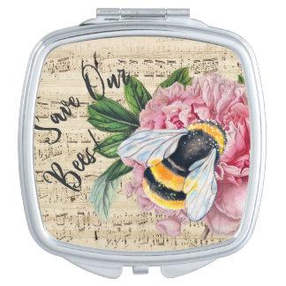 蜂のピンクのシャクヤクのための音楽