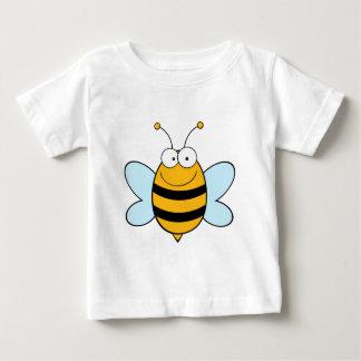 蜂のマスコットのマンガのキャラクタ ベビーTシャツ