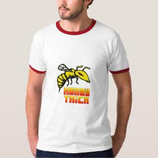 蜂のロゴの人の信号器のTシャツ Tシャツ